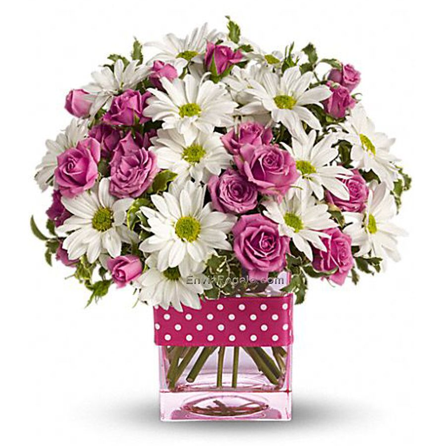 Arreglo Floral Polka Flower Arrangement Pinterest Flowers