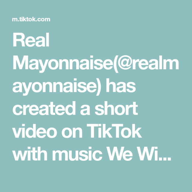 Real Mayonnaise Realmayonnaise Has Created A Short Video On Tiktok With Music We Wish You A Merry Christmas Besides The Last Real Mayonnaise Christmas Gifts