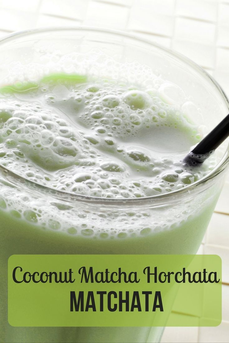 Try this coconut matcha horchata! Lightly creamy, with nutty notes!