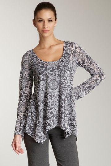 Balance Collection by Marika  Scrolly Instincts Long Sleeve Tee  $16.00