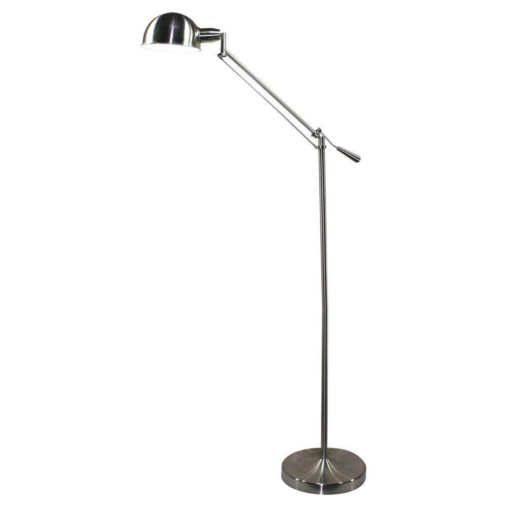 Verilux Brookfield Deluxe Natural Spectrum Floor Lamp Brushed Nickel Floor Lamp Lamp