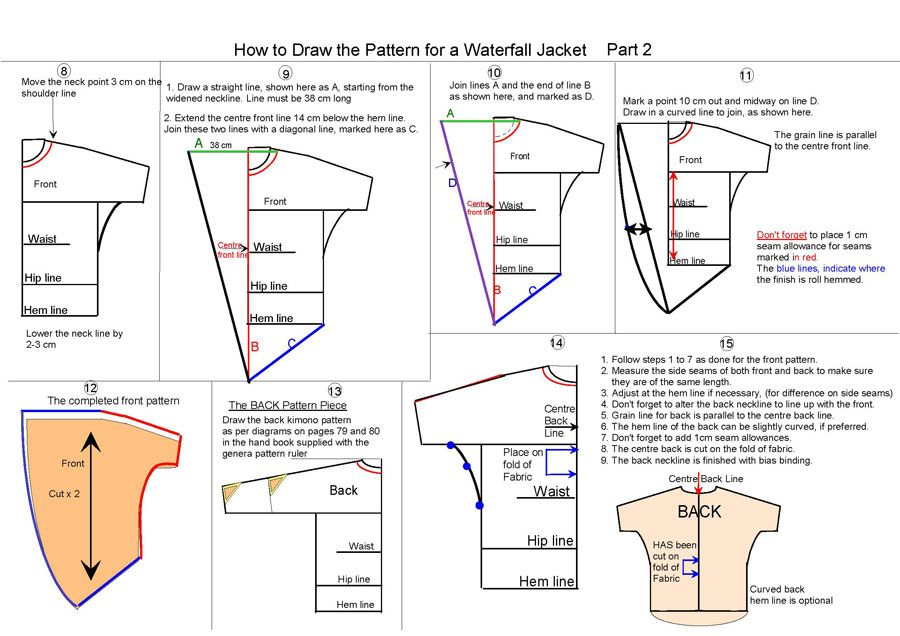 free waterfall jacket sewing pattern - Google Search … | sewing | Pinte…