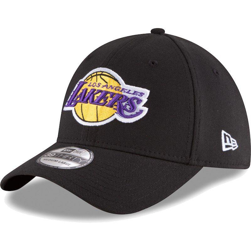 3eb9f999 Los Angeles Lakers New Era Team Classic 39THIRTY Flex Hat – Black in ...