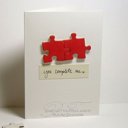 puzzle pieces card