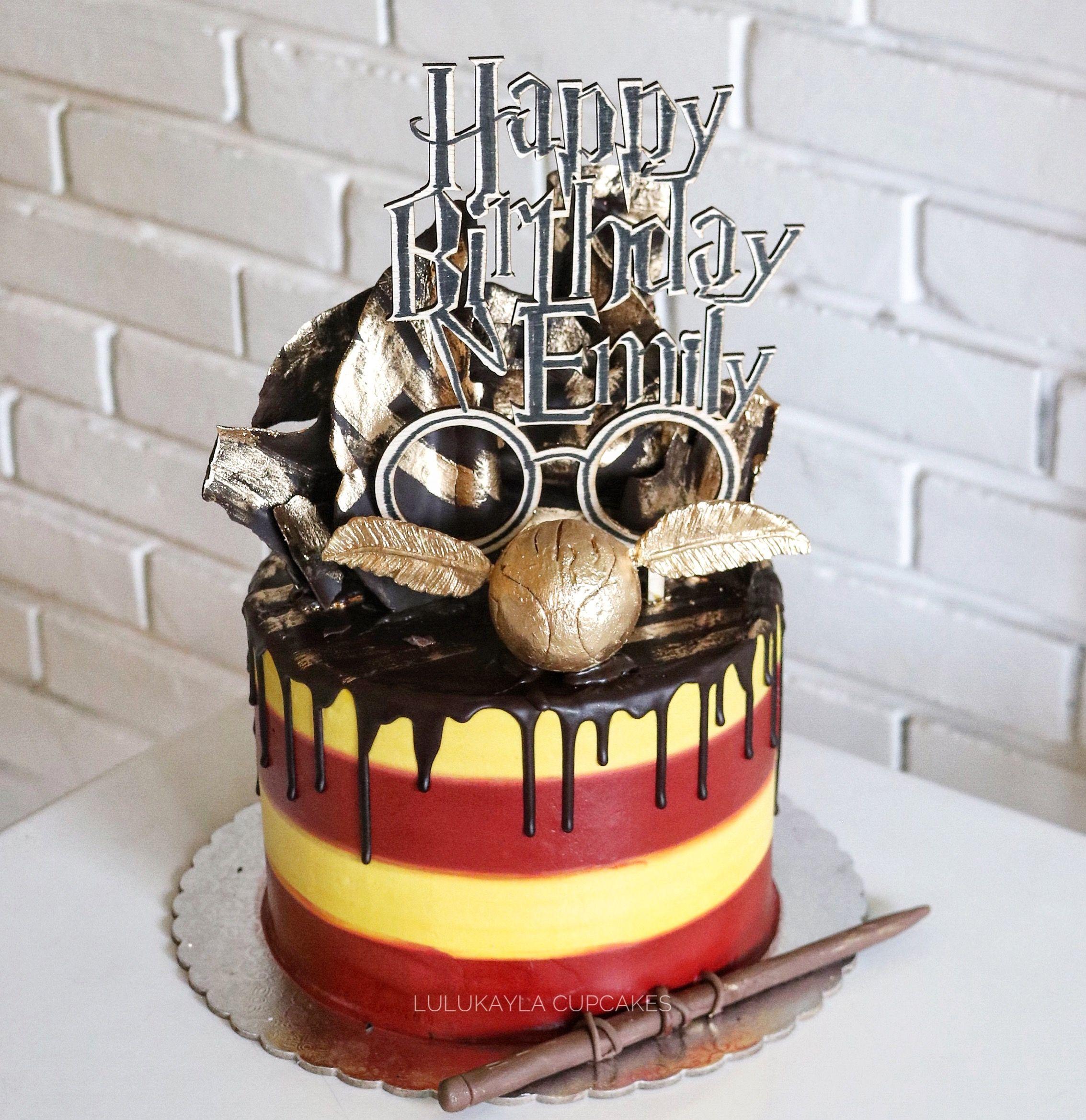 Harry potter buttercream cake Harry potter birthday cake