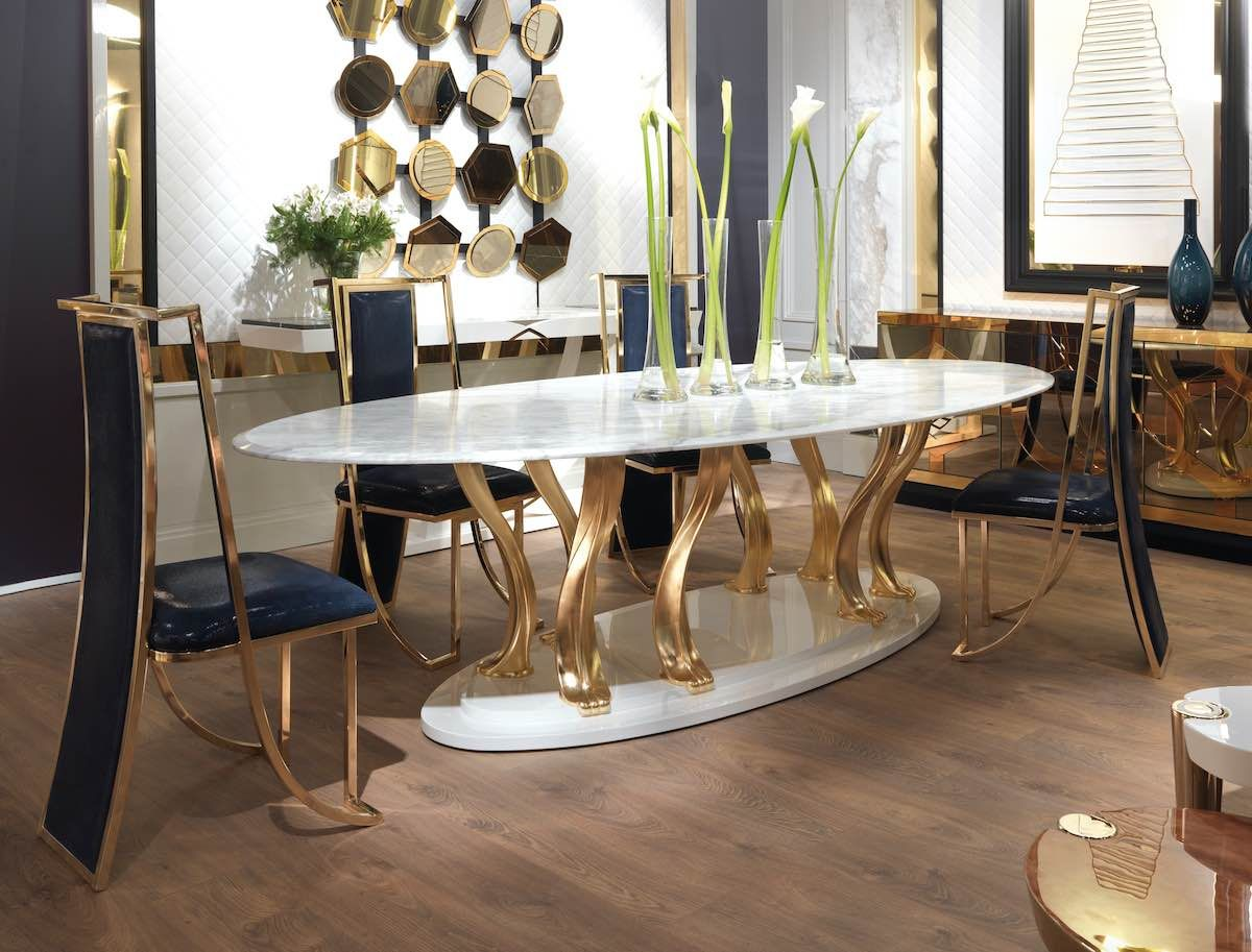Get Inspired By These Gold Dining Table Ideas For Your Master Decoration Exclusivedesign Go Luxury Dining Room Dining Room Furniture Cherry Dining Room Sets