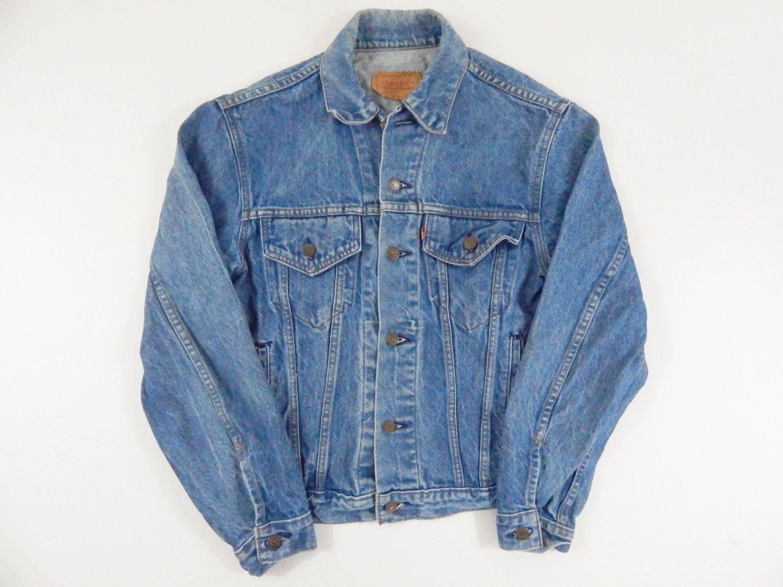 Vtg 1990 Levis Denim Jacket Men Women 90s Jean Jacket Made In Usa Size 40r Vintage Levi Denim Jacket Denim Jacket Men Denim Jacket