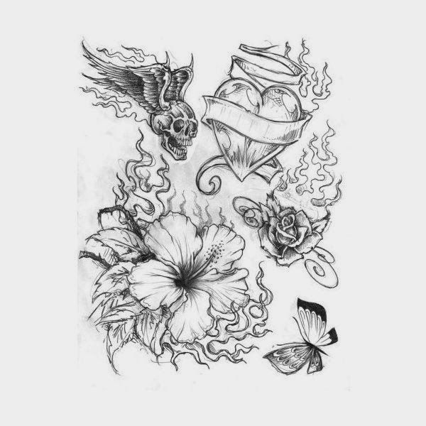 Cool tattoo designs on paper hair and tattoos amazing for Drawing tattoos on paper