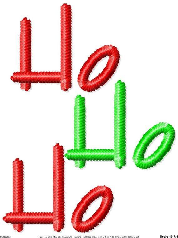 Ho Ho Ho Christmas Machine Embroidery by SimplySweetEmbroider, $2.00