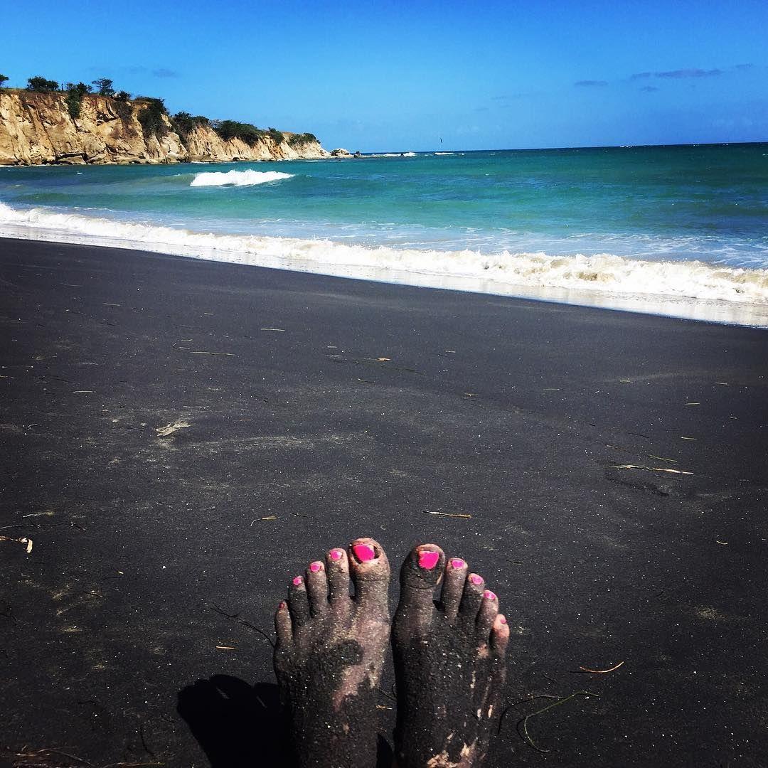 Painted Pink Black Sand Beach Vieques Island Puerto Rico Brady Loveless