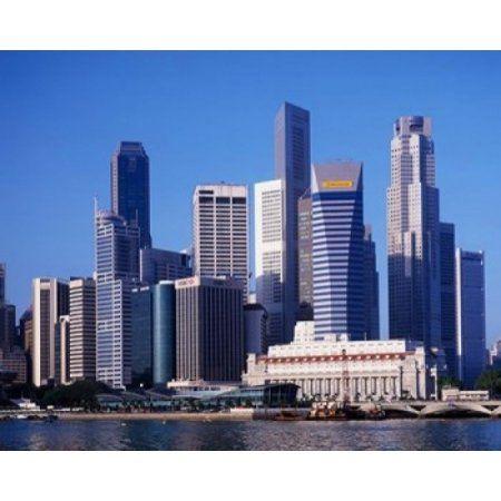 Singapore Skyline Canvas Art - Paul Thompson DanitaDelimont (36 x 24)