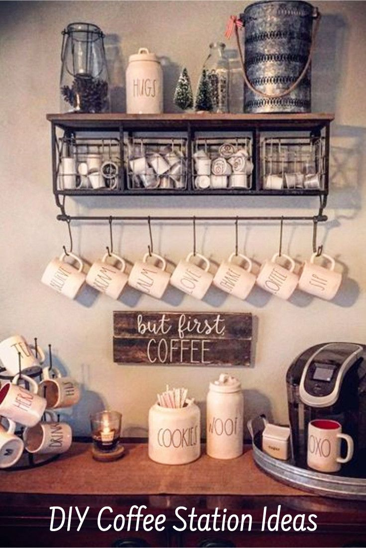 Farmhouse Coffee Station Ideas Farm Style Coffee Bar Ideas