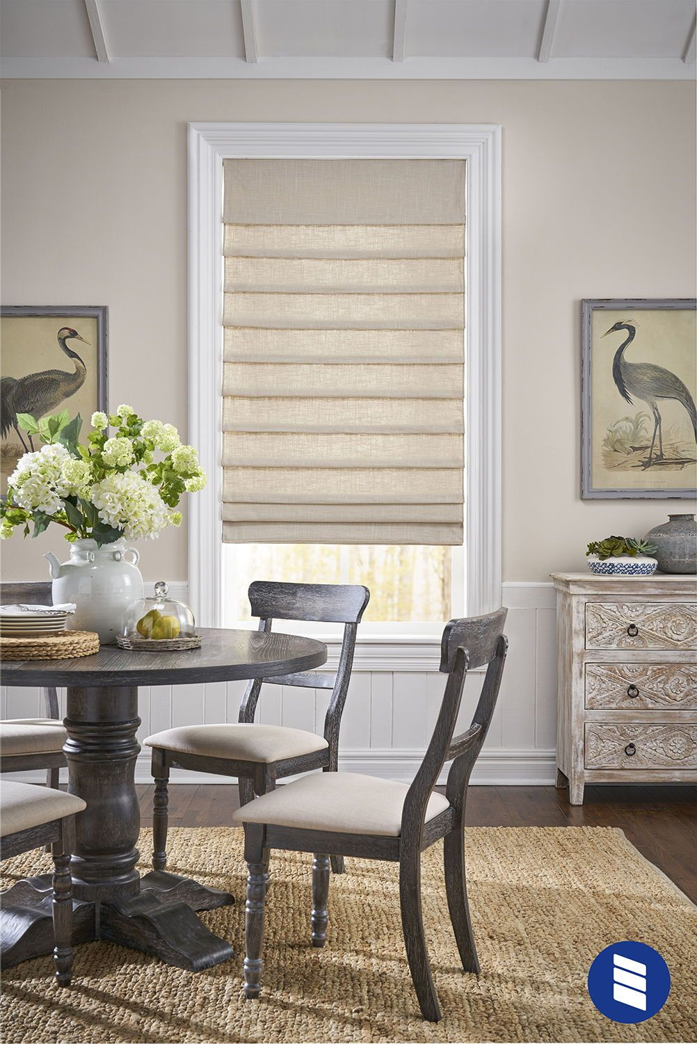 Designer Roman Shade Roman Shades Living Room Dining Room Window Treatments Window Treatments Living Room