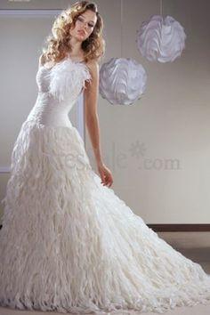 94e34a1036b white peacock wedding dress - I m digging this for my theme wedding ...