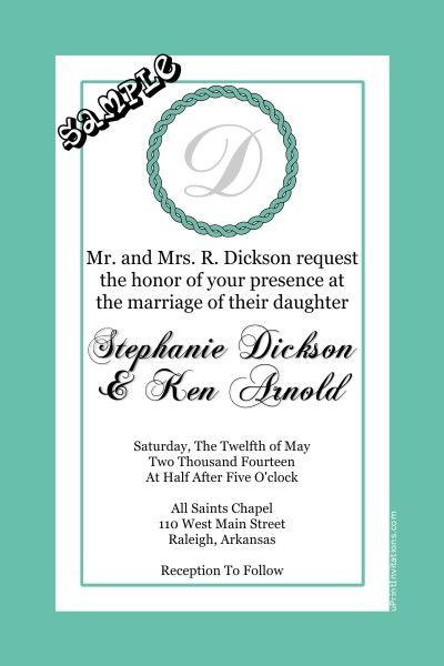 Monogram Wedding Invitations ANY COLOR SCHEME   Get These Invitations RIGHT  NOW. Design Yourself Online