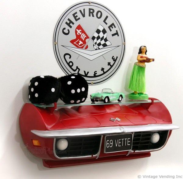 Corvette Wall Sconce Lighting Valve Cover Lamp Car Part Etsy Automotive Decor Car Part Furniture Car Part Art