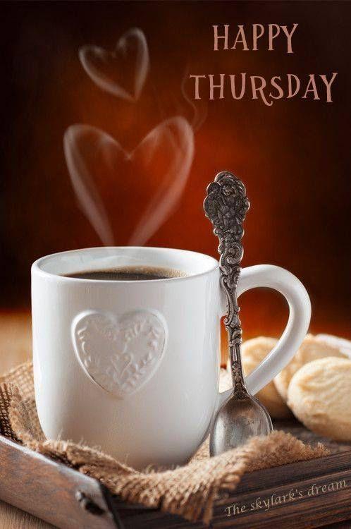 Happy Thursday Coffee : happy, thursday, coffee, Happy, Thursday!, ❤️, Morning, Coffee,, Coffee, Addict,