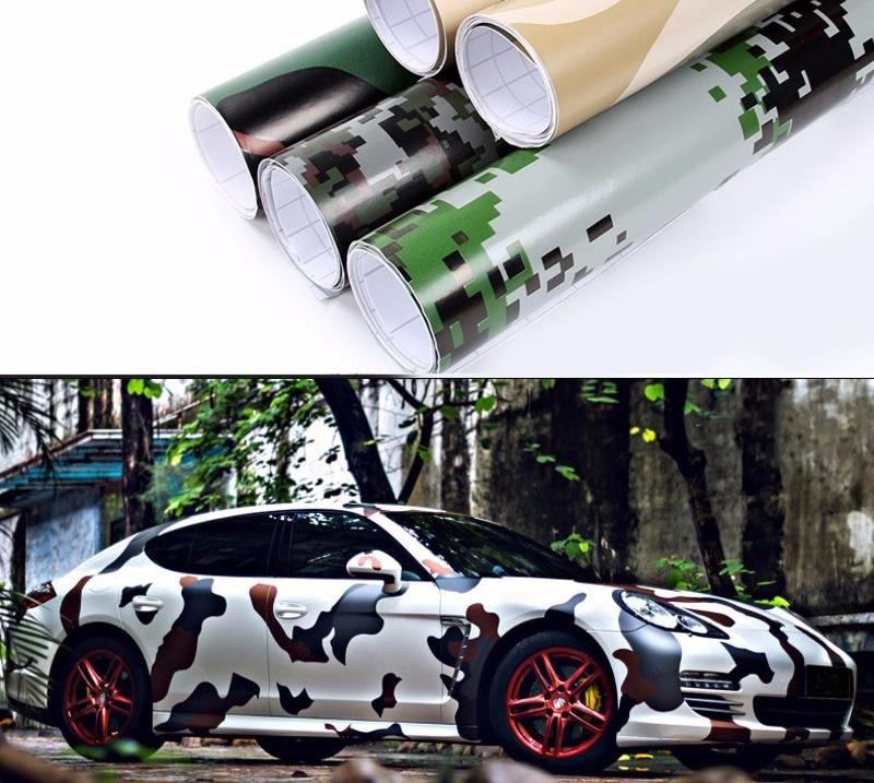 4 x 60in Camouflage PVC Vinyl Wrap 5 Color Camo Pvc