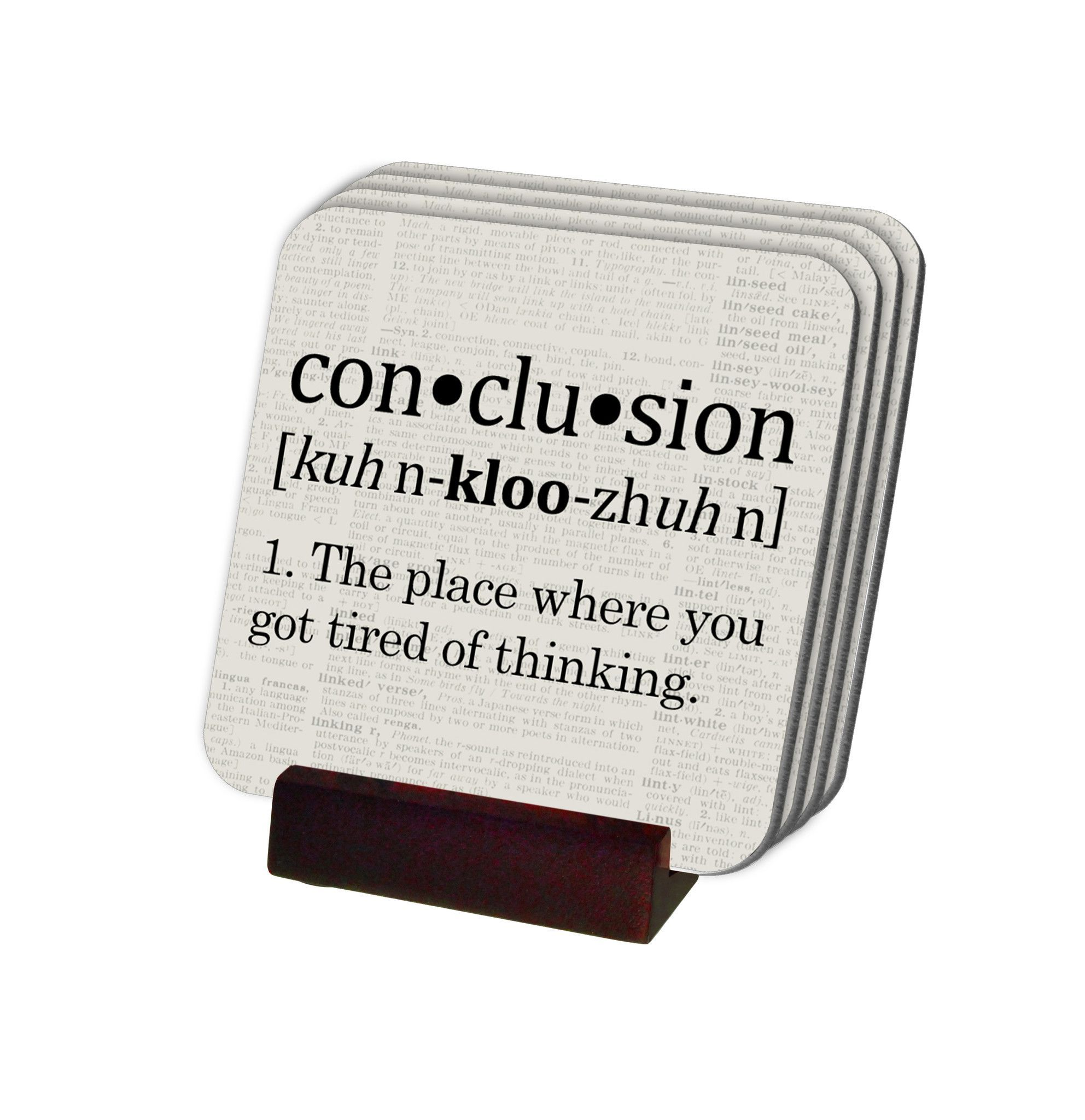 what does the word conclusion mean