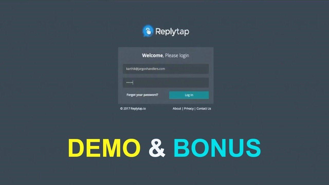 Replytap demo bonus new live chat box app jvzoo wso launch