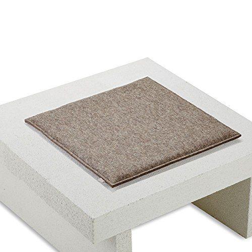 Sitzkissen Für Stuhl filz sitzkissen sitzauflage stuhl kissen eckig gepolstert 100