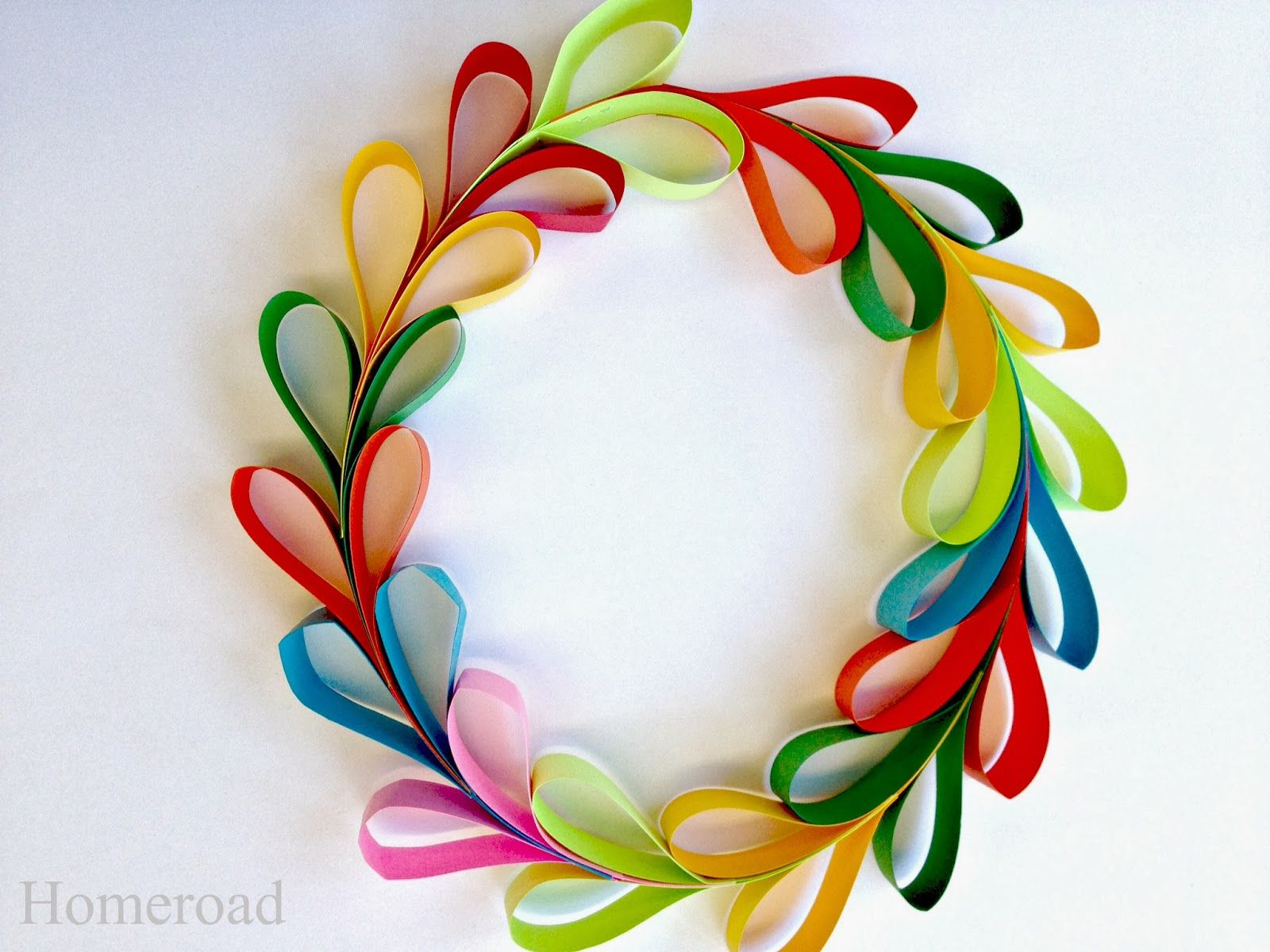 Paper Heart Wreath for Valentine's Day
