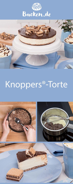 KnoppersTorte Knoppers das Frühstückchen Und nicht nur das auch im knusprigen Boden unserer cremigen KnoppersTorte macht sich die MilchHaselnussSchnitte ziemlic...