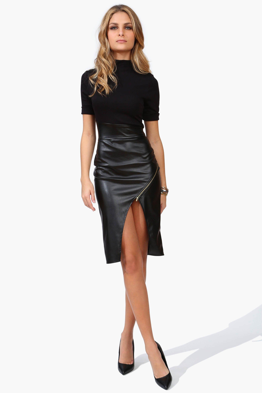 BODY LANGUAGE LEATHER DRESS BLACK - Love it Cuir Noir, Jupe Cuir, Vetement  Cuir 175d28d8da87