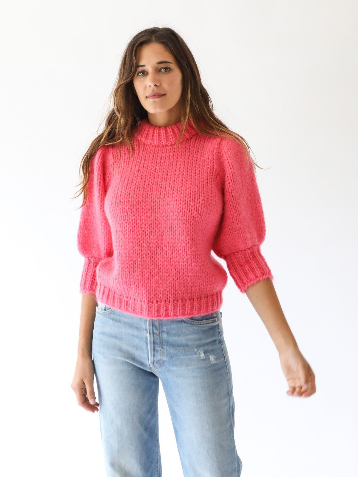 bfe95412d6b8 GANNI - The Julliard Mohair Sweater in Hot Pink
