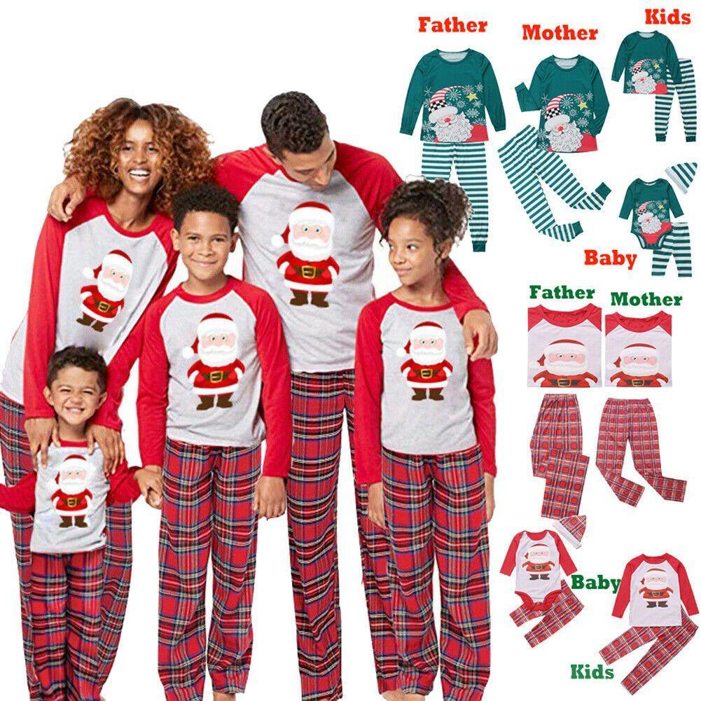 US Family Matching Christmas Pajamas Set Men Women Baby