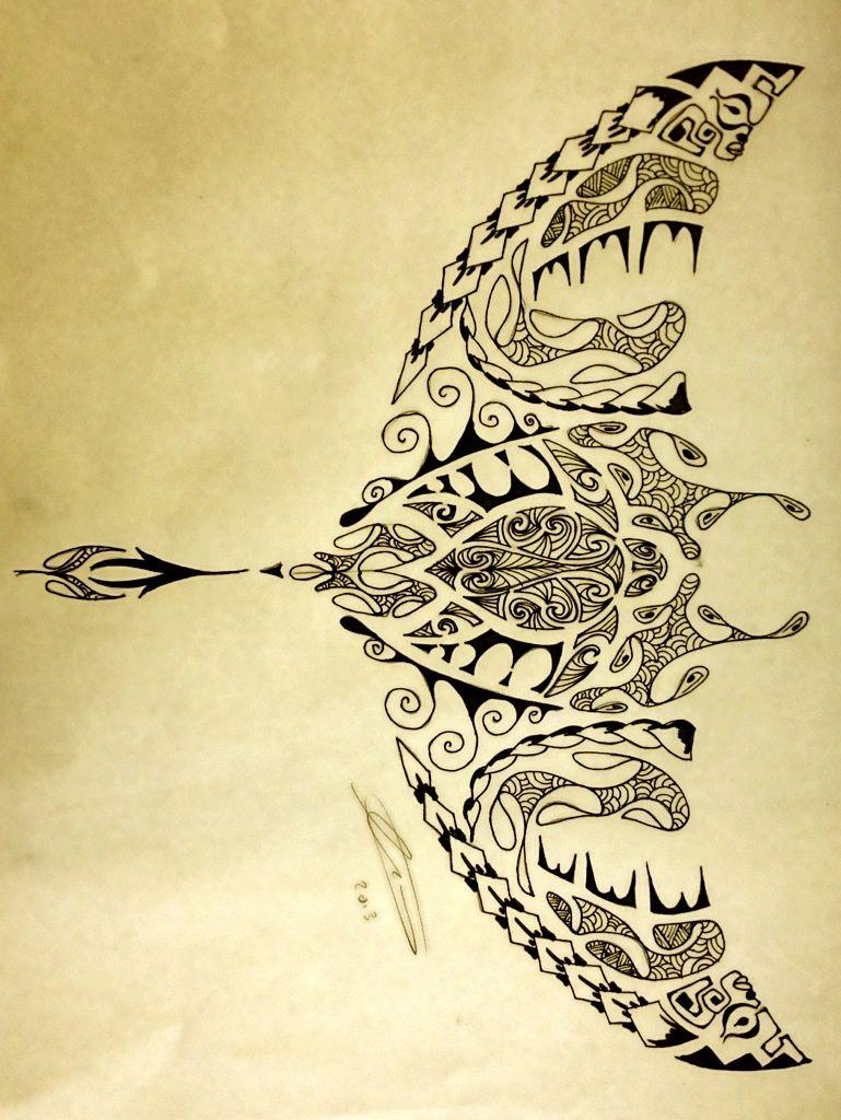 Rochen Tattoo: Polynesian Manta Ray/Turtle By A18cey