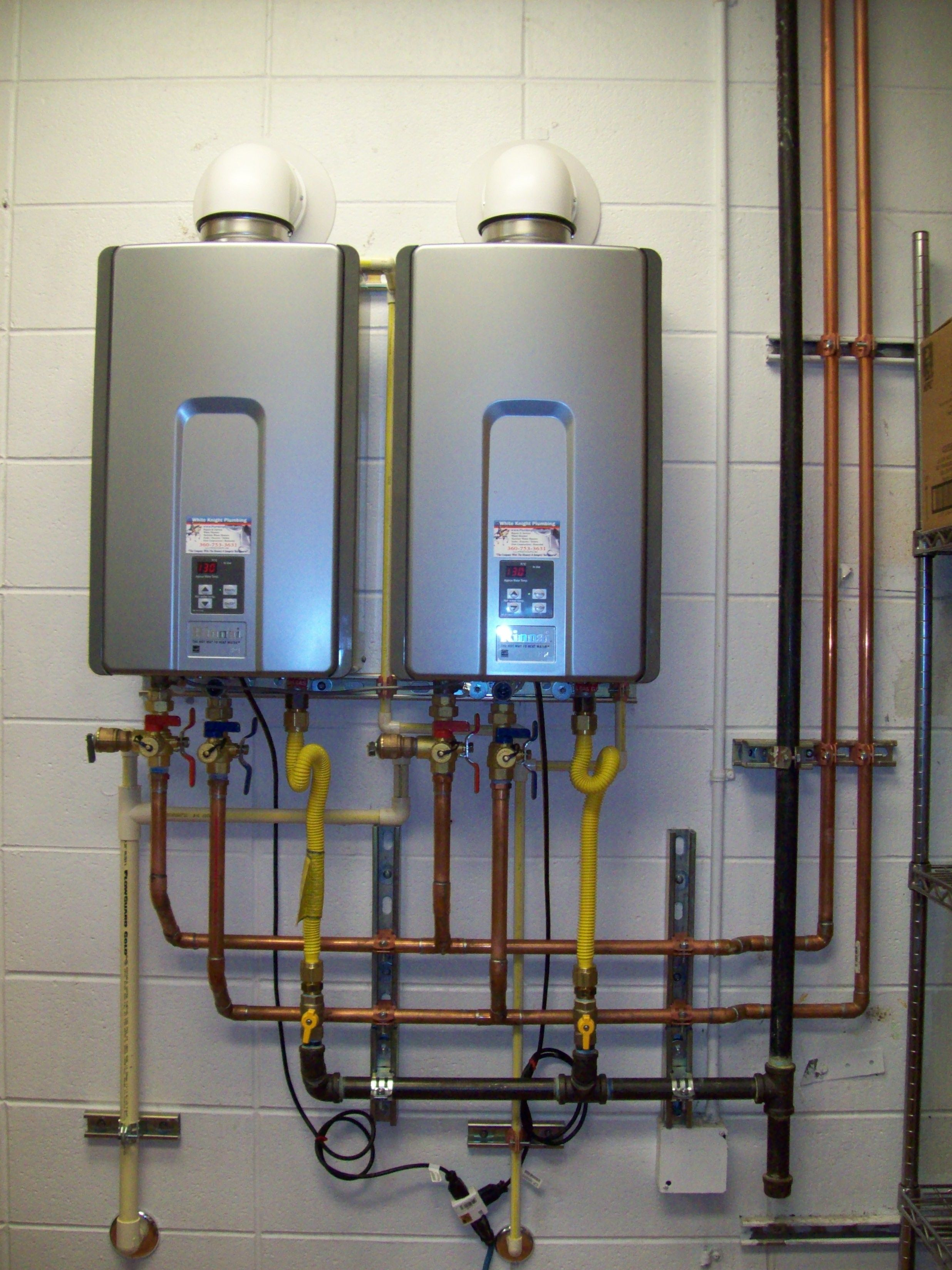 Pros and cons of gas tankless water heaters - Rinnai Commercial Tankless Water Heater Installation With Ez Connect Kit