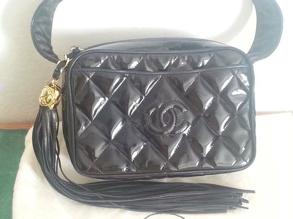 c3126329bc8e24 Chanel collector! Rare 100% Authentic Chanel Enamel Patent Leather bag  Party bag