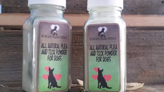 All Natural Flea and Tick Powder For Dogs by BeTheGoodOrganicSoap