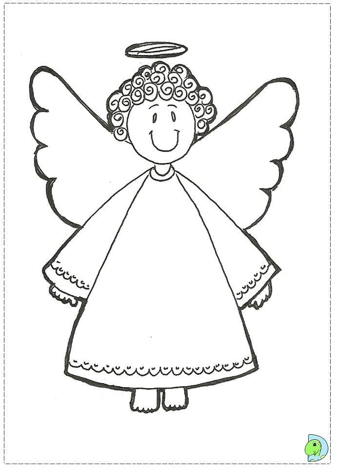 Angel coloring page, Christmas Angel colouring page- DinoKids ...