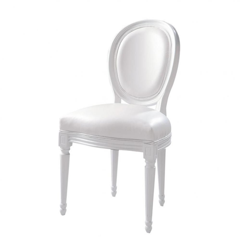 Silla Blanca Louis 160 White Leather Dining Chairs White Dining Chairs White Chair