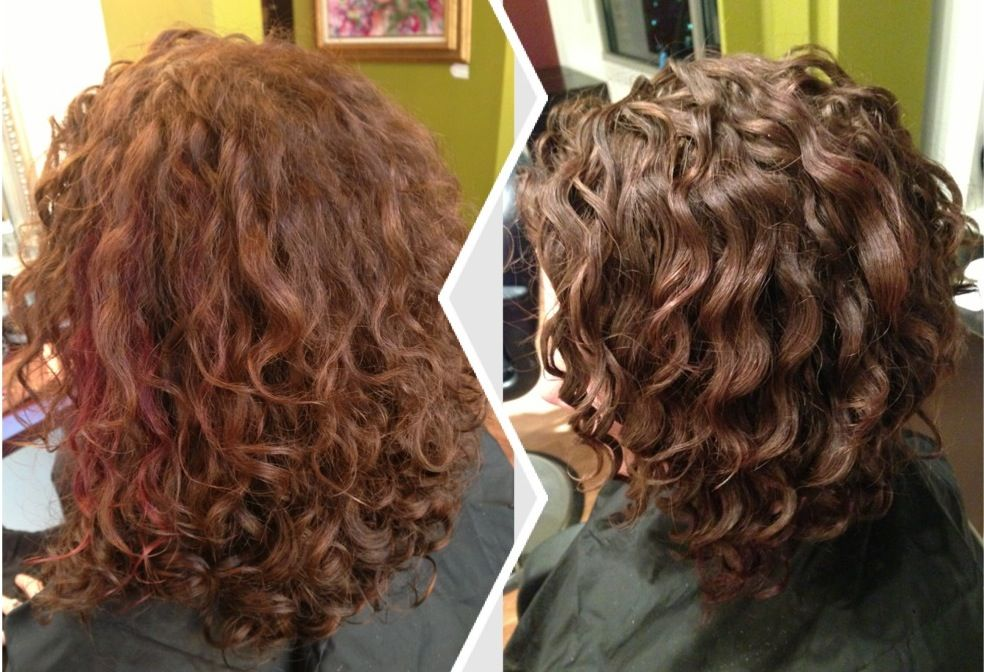 Before After Dry Haircut For Natural Curls Followed By The Deva 3 Step Naturallycurly Devacurl W Natural Curls Permed Hairstyles Haircuts For Curly Hair