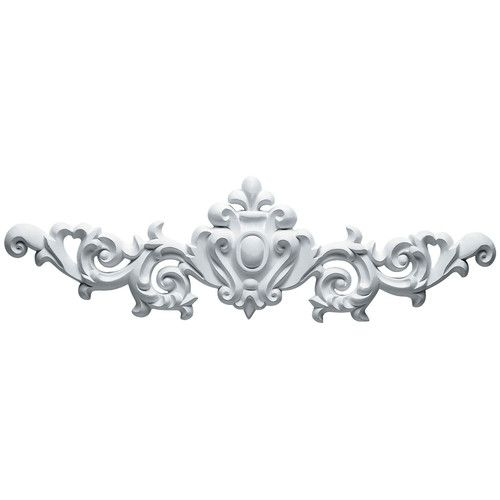 Marcella 6 3 4 H X 22 1 2 W X 1 1 8 D Large Leaf Onlay Panel Moulding Millwork Onlay