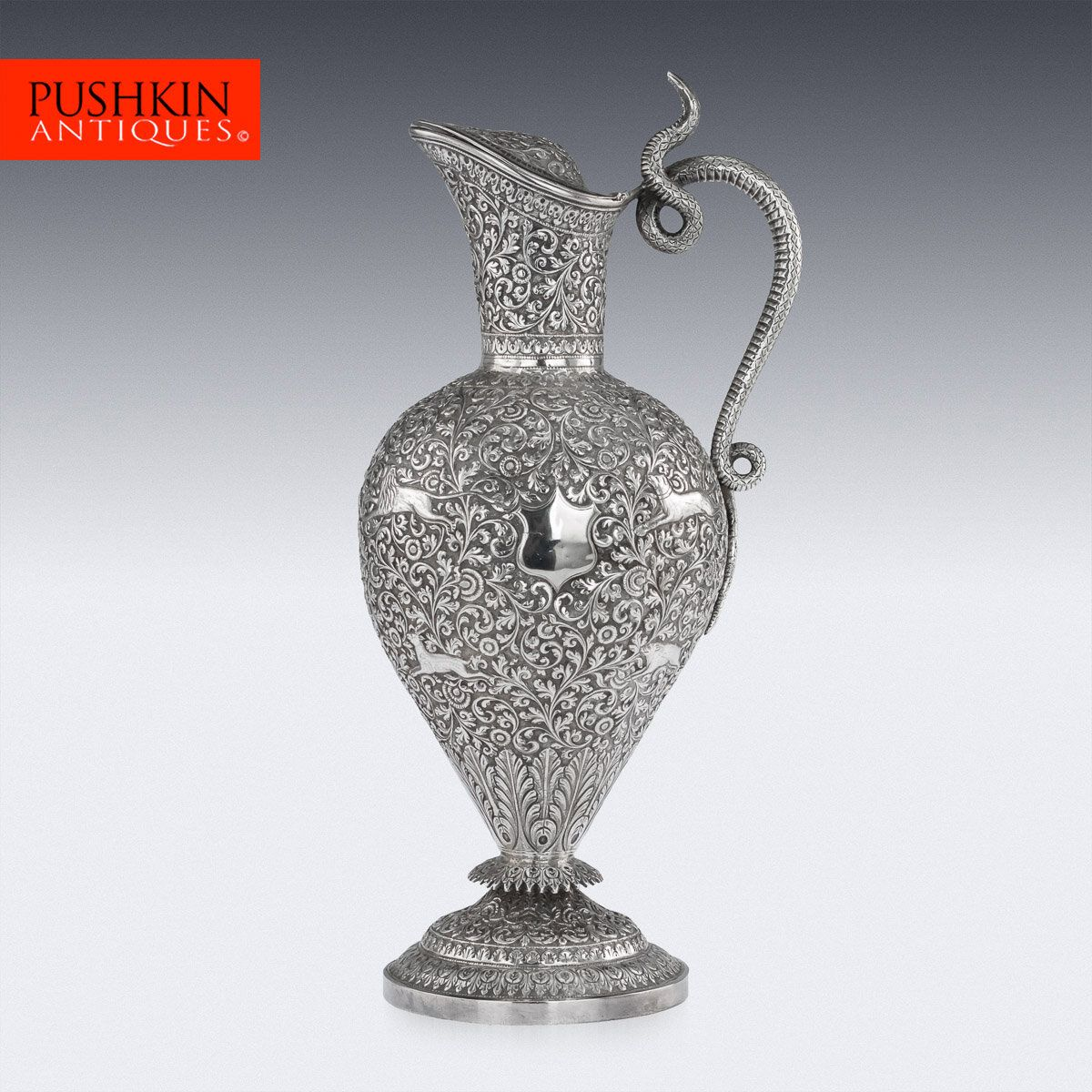 19TH CENTURY INDIAN SILVER PERFUME