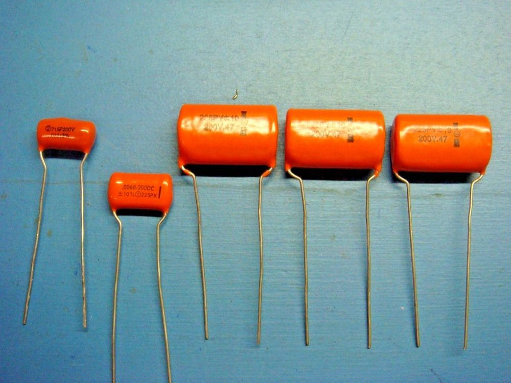 5 Sprague 225p 715p 0068uf 47uf 022uf 200v Radial Orange Drop Capacitor Lot Ebay Diy Audio Projects Things To Sell Capacitors