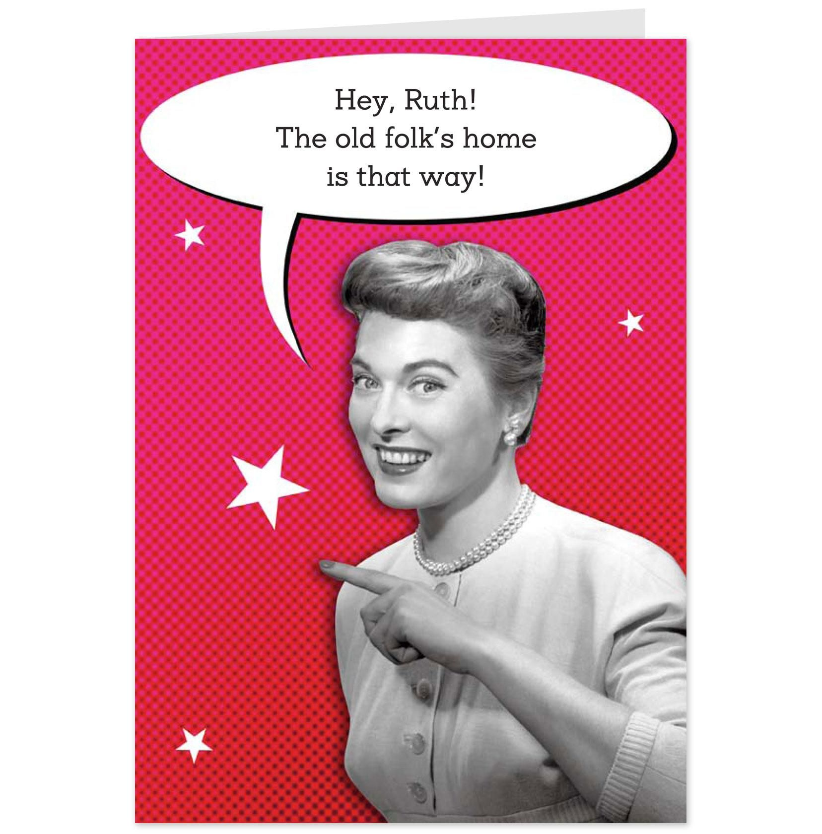 Funny Retro Women Funny Birthday Cards For Women Retro