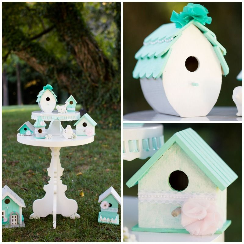 Wedding Wednesday Shabby Chic Bird House Decor