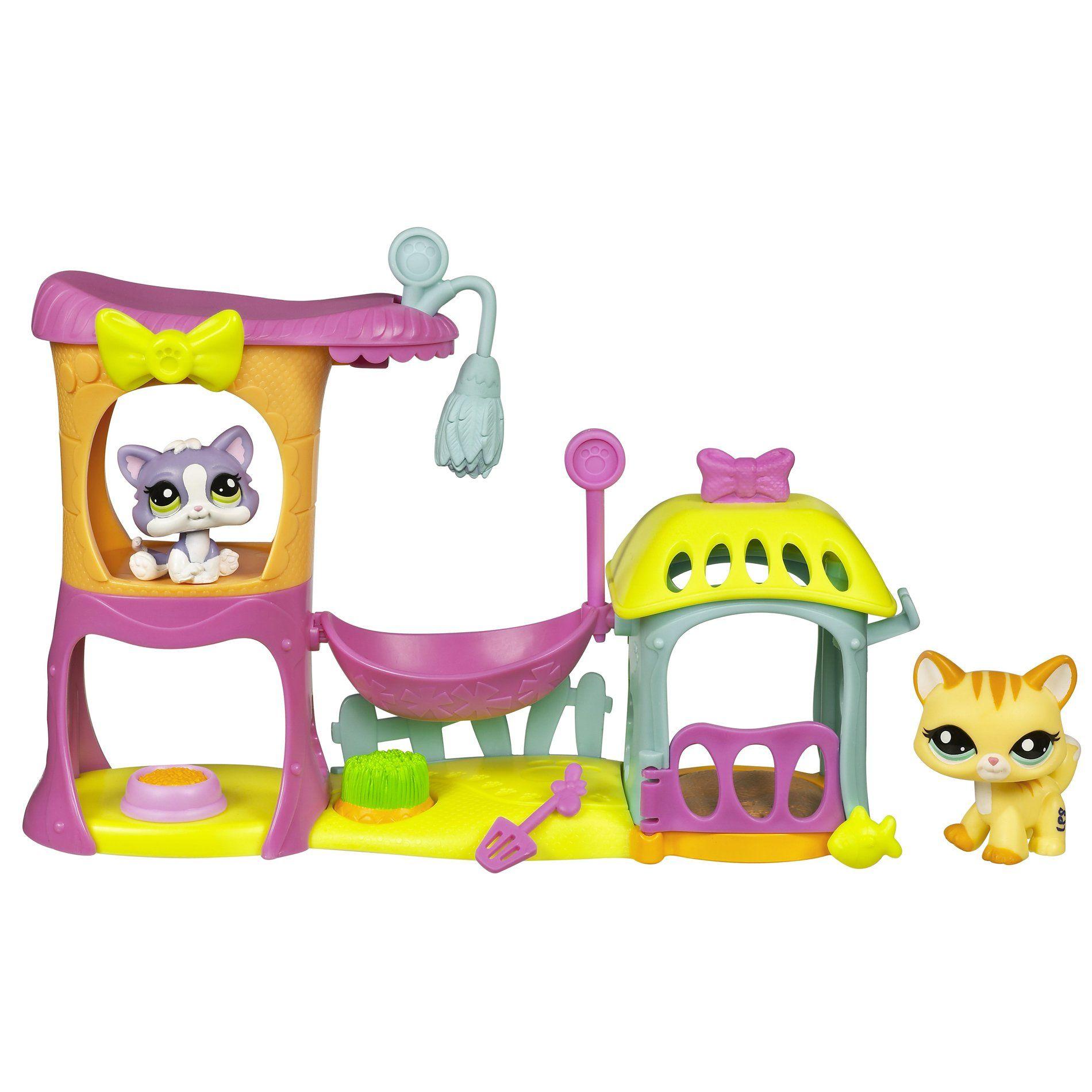 Amazon Com Littlest Pet Shop Meow Manor Playset Toys Games