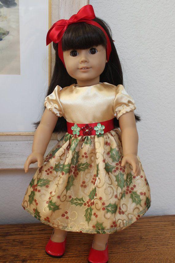 American Girl Doll Clothes ChristmasGold by Sariahsdollcloset
