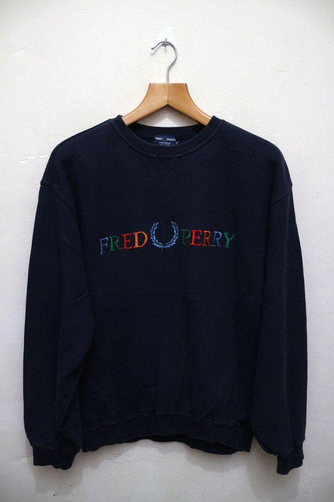 5cf7836b6 Vintage FRED PERRY Swag Hip Hop Streetwear Pop Art Pullover Designer  Sweater Sweatshirt XL by VintageClothingMall on Etsy