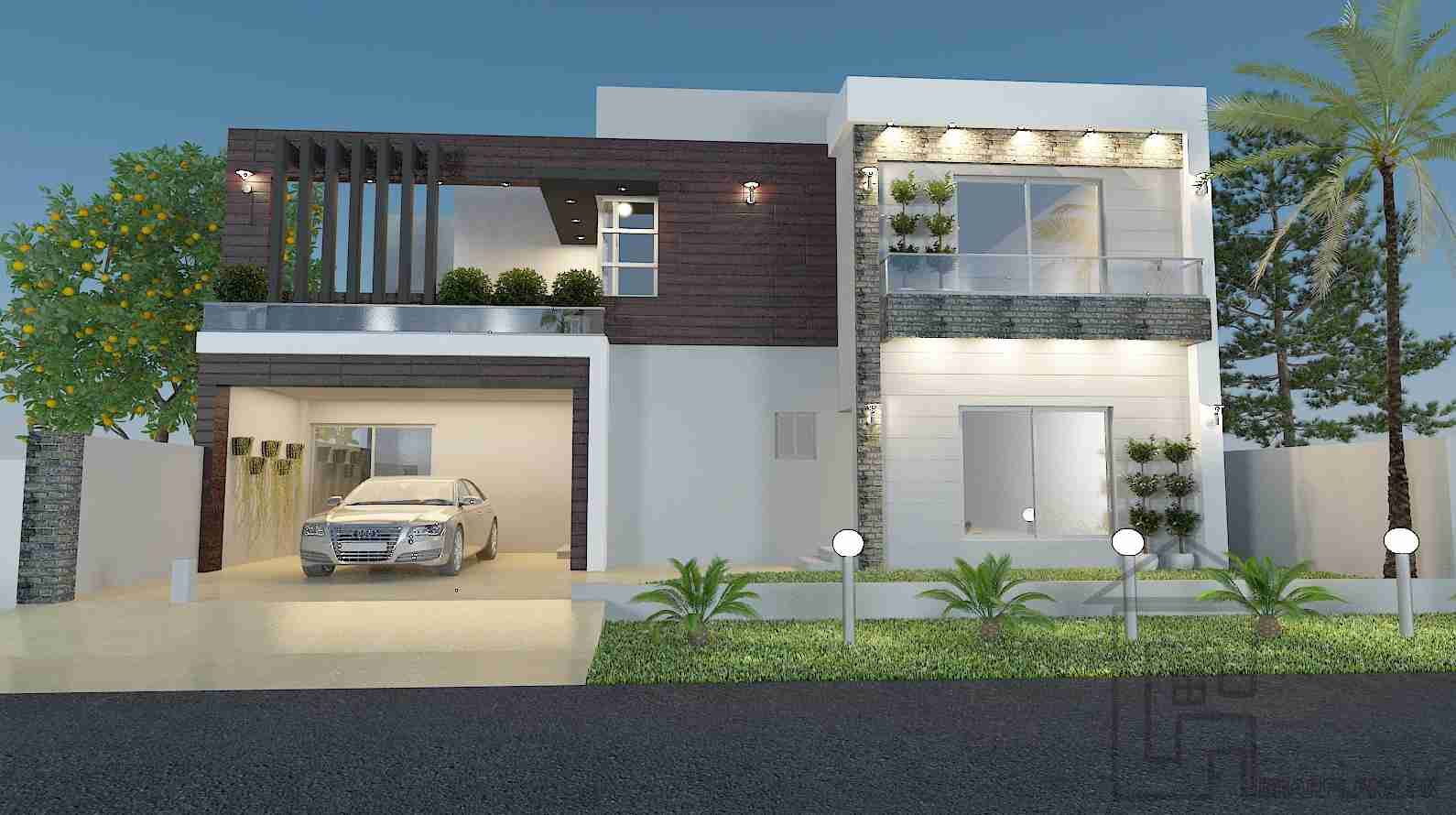 Ghar ka naksha front elevation house elevation modern for Map of kothi design