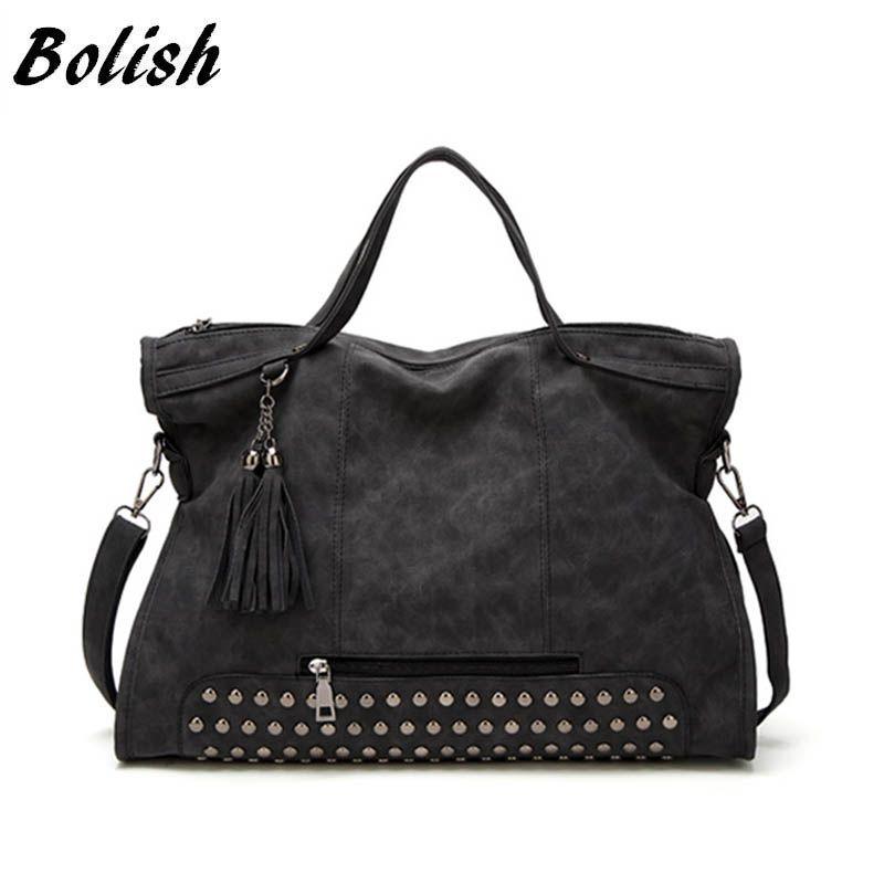 Bolish Drop shipping Bolsa Feminina Mujer High Capacity Tassel Crossbody Bag Lady All-Purpose Style Bolso de compras diario – EL COLGANTE DE JOYERÍA
