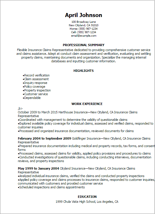 Waiver Of Liability Statement Customer Service Resume Professional Insurance Job Resume Samples