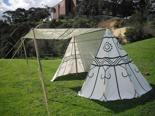 Painted Tent I Do Not Want A Bell Wedge But The Painted Canvas
