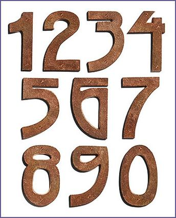 Arts And Crafts Mission Copper House Numbers Art And Craft